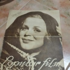Cine: POPULAR FILM 1936 42X32CM REVISTA. Lote 261843995