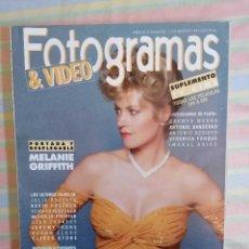 Cine: FOTOGRAMAS 1772 MARZO 1991. Lote 261917815