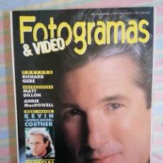 Cine: FOTOGRAMAS 1776 JULIO-AGOSTO 1991. Lote 261918530