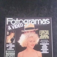 Cine: FOTOGRAMAS 1766-MADONNA-TOM CRUISE-SEAN CONNERY-BRUCE WILLIS-TRACI LORDS-MIGUEL BOSÉ. Lote 262045090