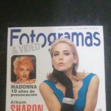 Cine: FOTOGRAMAS 1791-MADONNA-SHARON STONE-GERARD DEPARDIEU-BRIDGET FONDA-EMMA SUAREZ-JULIE ANDREWS-SITGES. Lote 262048055