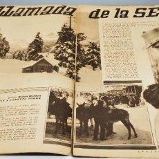 Cine: REPORTAJE DE LA PELICULA LA LLAMADA DE LA SELVA CLARK GABLE LORETTA YOUNG LECTURAS AÑO 1936. Lote 262066475