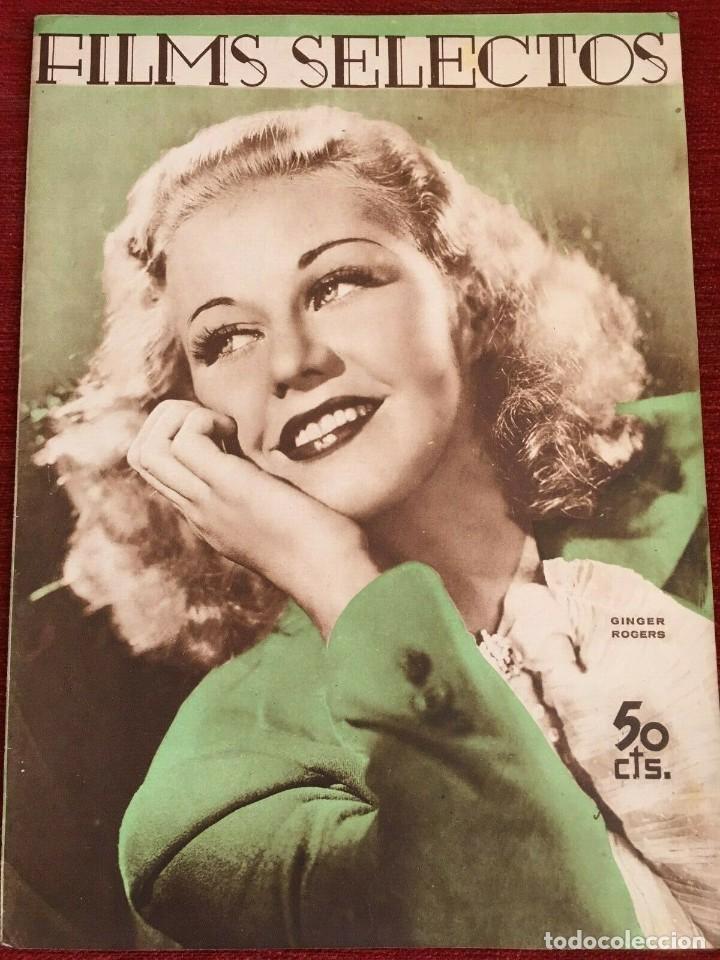 FILMS SELECTOS GINGERS ROGERS LAUREL & HARDY KITTY CARLISLE MYRNA LOY ALICE FAYE 1936 (Cine - Revistas - Films selectos)