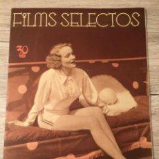 Cine: FILMS SELECTOS MARLENE DIETRICH ON COVER JOAN CRAWFORD RAYMOND MILLAND JANET GAYNOR. Lote 262177825