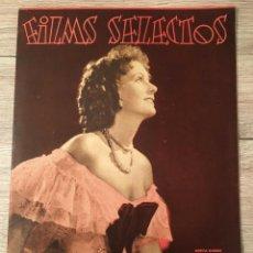 Cine: FILMS SELECTOS GRETA GARBO ON COVER JOAN CRAWFORD MAE WEST ROSALIND RUSSELL. Lote 262177985