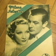 Cine: FILMS SELECTOS MARLENE DIETRICH GARY COOPER JEAN PARKER FREDDIE BARTHOLOMEW DICK POWEL. Lote 262178925