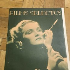 Cine: FILMS SELECTOS ELIZABETH RUSSELL ON COVER GRETA GARBO ROBERT TAYLOR JOAN CRAWFORD. Lote 262179585
