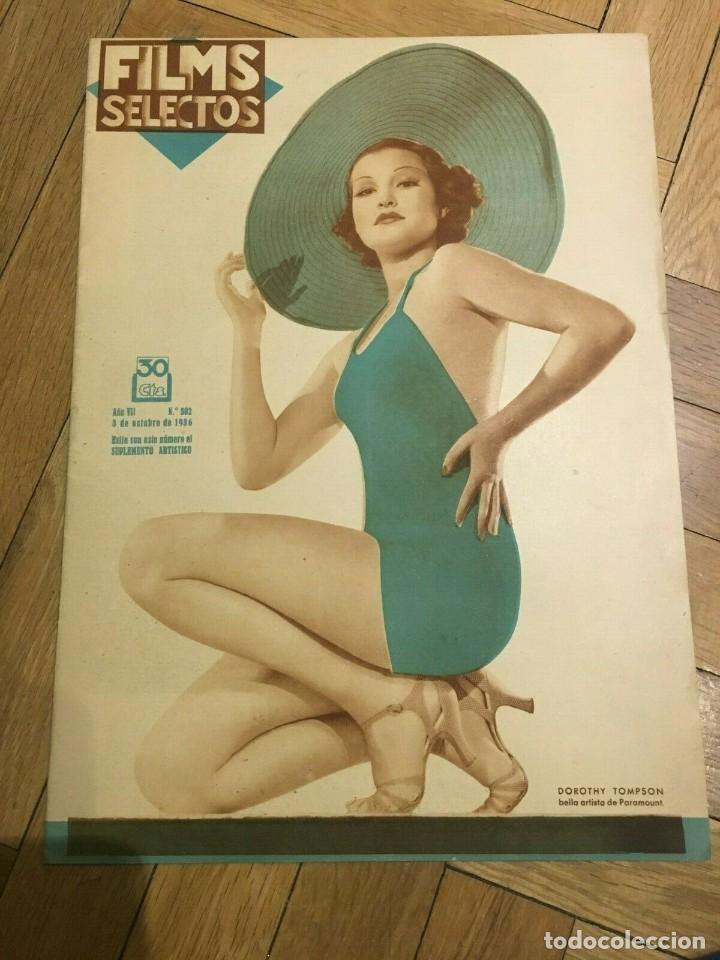 FILMS SELECTOS DOROTHY TOMPSON CAROLE LOMBARD ANNE DARLING KATHARINE HEPBURN MIRNA LOY (Cine - Revistas - Films selectos)