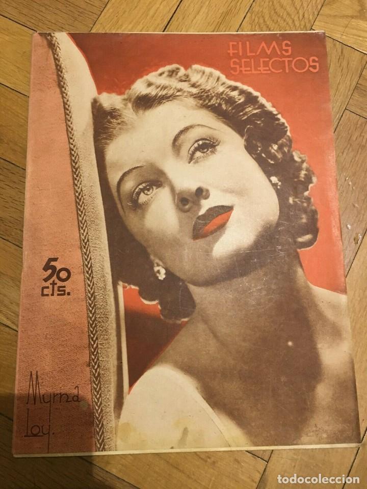 FILMS SELECTOS MYRNA LOY COVER OLIVIA DE HAVILLAND JOHNNY WEISSMÜLLER PATRICIA ELLIS (Cine - Revistas - Films selectos)