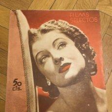 Cine: FILMS SELECTOS MYRNA LOY COVER OLIVIA DE HAVILLAND JOHNNY WEISSMÜLLER PATRICIA ELLIS. Lote 262181125