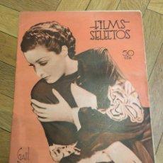 Cine: FILMS SELECTOS GAIL PATRICK ON COVER JUDITH BARRETT JEAN HARLOW MAE WEST DICK POWELL. Lote 262181180