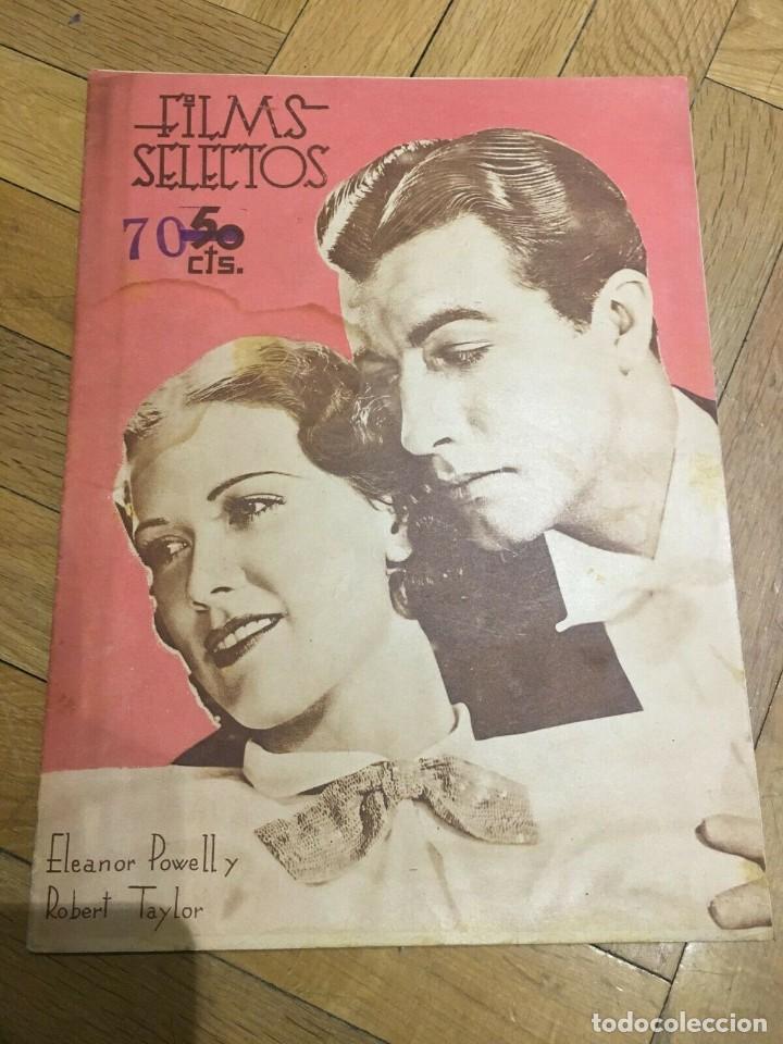 FILMS SELECTOS ELEANOR POWELL ROBERT TAYLOR CLAIRE TREVOR ANN SHERIDAN MARLENE DIETRIC (Cine - Revistas - Films selectos)