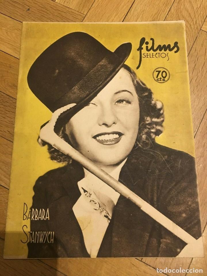 FILMS SELECTOS BARBARA STANWYCK TERRI WALKER BARBARA READ CLARK GABLE NELSON EDDY 1936 (Cine - Revistas - Films selectos)