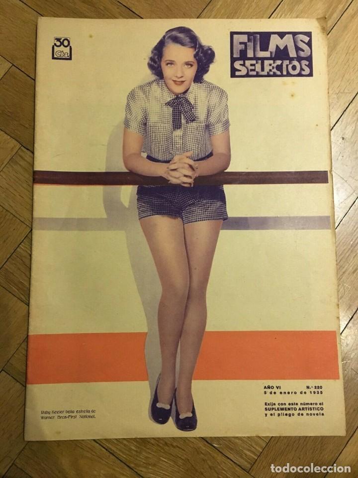 FILMS SELECTOS RUBY KEELER ON COVER PAT PATERSON ALICE IN WONDERLAND ANNA NEAGLE 1935 (Cine - Revistas - Films selectos)