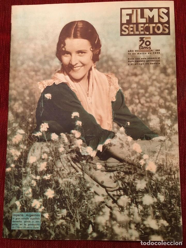 FILMS SELECTOS JOAN CRAWFORD IMPERIO ARGENTINA BETTE DAVIS DOROTHY DEARING CLARK GABLE (Cine - Revistas - Films selectos)