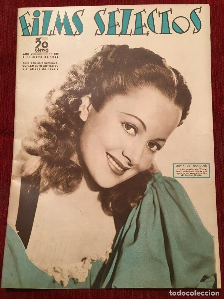 FILMS SELECTOS JOAN CRAWFORD OLIVIA DE HAVILAND MARGARET SULLAVAN BETTY FURNESS 1936 (Cine - Revistas - Films selectos)