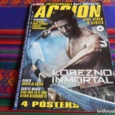 Cinema: ACCIÓN CINE-VÍDEO & SERIES 1307 CON LOS 4 PÓSTERS DE LOBEZNO, STAR TREK, JURASSIC PARK Y ONE. 2013.. Lote 262250160