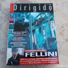 Cine: DIRIGIDO POR Nº 391, DOSSIER ESPECIAL FELLINI 3 PARTE, F.F.COPPOLA, SAM REIMI UP, STANLEY KUBRICK. Lote 262372225