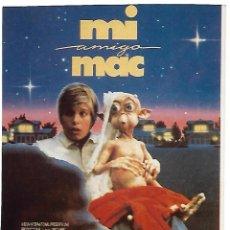Cine: MI AMIGO MAC. Lote 262441330