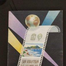 Cine: FOLLETO PRIMER FESTIVAL DE CINE DE SAN SEBASTIAN 1953. Lote 262671480
