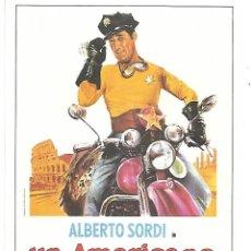 Cine: CINE ITALIANO. UN AMERICANO A ROMA. TARJETA POSTAL.. Lote 262848025