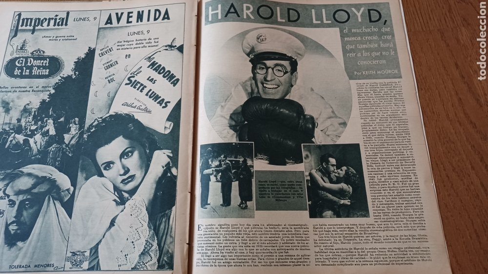 Cine: REVISTA PRIMER PLANO N°321.MAUREEN O HARA - HAROLD LLOYD - Foto 2 - 263108575