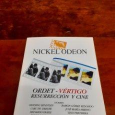 Cinema: NICKEL ODEON ORDET - VERTIGO, VARIOS AUTORES. 2017. PERFECTO ESTADO. REVISTA DE CINE.. Lote 263729125