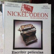 Cinema: REVISTA TRIMESTRAL DE CINE NICKEL ODEON Nº 21 - INVIERNO 2000. ESCRIBIR PELÍCULAS. Lote 263935875
