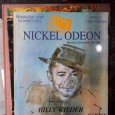 Cine: REVISTA TRIMESTRAL DE CINE NICKEL ODEON Nº 10 - PRIMAVERA 1998. BILLY WILDER. Lote 263937120