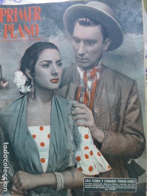 REVISTA PRIMER PLANO Nº 718, LOLA FLORES Y FERNANDO FERNÁN GÓMEZ, LANA TURNER, MARISA PRADO, FRANCI (Cine - Revistas - Primer plano)
