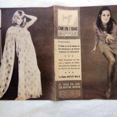 Cine: CINE EN 7 DIAS. NÚM 314, 15 ABRIL 1967.CUBIERTA DELANTERA: MARTINE BESWICK. POSTERIOR : ANITA EKBERG. Lote 264258040