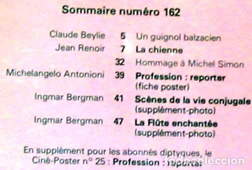 Cine: LA CHIENNE / JEAN RENOIR - REVISTA CINEMA Nº 162 OCTUBRE 1975 - VER DESCRIPCIÓN E INDICE - Foto 2 - 264516919