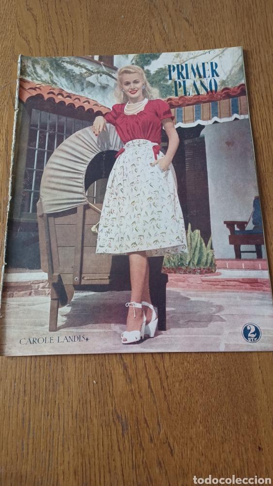REVISTA PRIMER PLANO N° 318 . AÑO 1946. CAROLE LANDIS .- (Cine - Revistas - Primer plano)