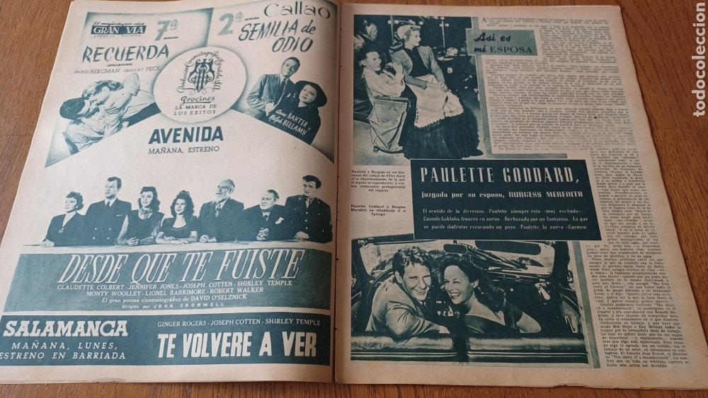 Cine: REVISTA PRIMER PLANO N°317 .AÑO 1946.JOAN CRAWFORD. - Foto 5 - 264793814