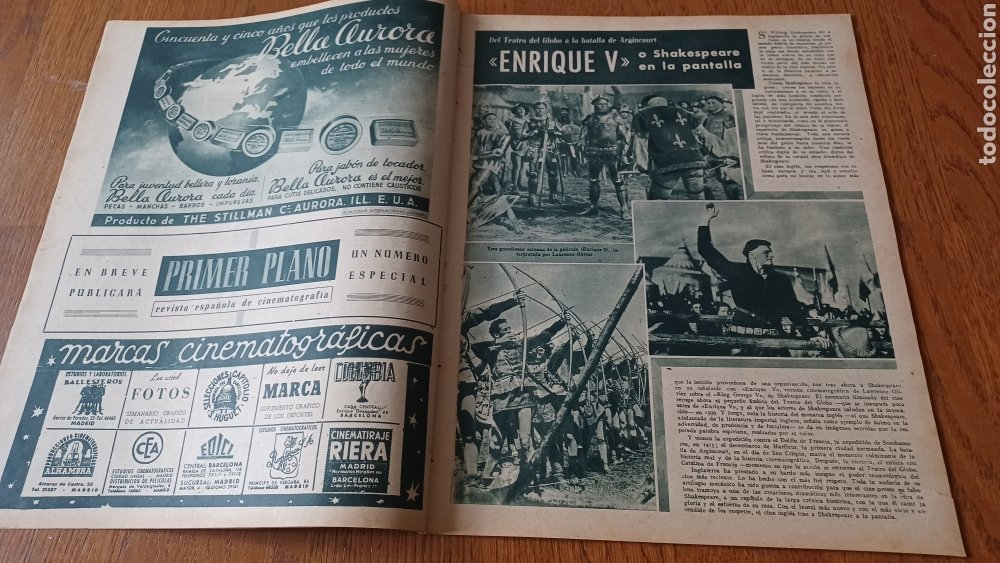Cine: REVISTA PRIMER PLANO N°314. AÑO 1946 .JEAN ROGER. - Foto 4 - 264796074