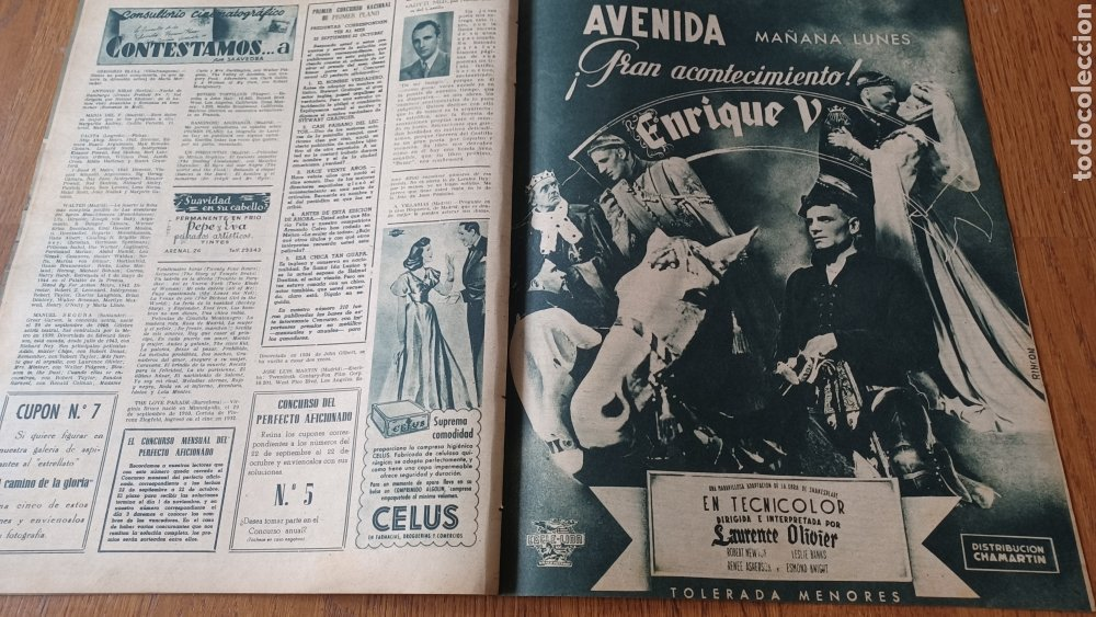Cine: REVISTA PRIMER PLANO N°314. AÑO 1946 .JEAN ROGER. - Foto 11 - 264796074