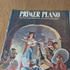 Cine: REVISTA PRIMER PLANO N °332 . AÑO 1946 .LOS TRES CABALLEROS. DE WALT DISNEY. Lote 264801524
