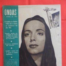 Cine: ONDAS, CARMEN DE LIRIO, REVISTA AÑO IV, NUM. 50, 1 ENERO 1955. Lote 265160839