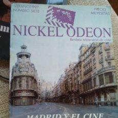 Cine: REVISTA TRIMESTRAL DE CINE NICKEL ODEON Nº 7 - VERANO 1997. MADRID Y EL CINE. Lote 266473703