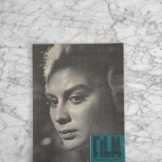 Cine: FILM IDEAL - Nº 66 - 1961 ELSA DANIEL, FESTIVAL MAR DEL PLATA, KAREL REISZ, CINE Y TEATRO, ANTONIONI. Lote 266646818