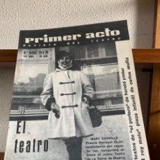 Cine: REVISTA DE TEATRO PRIMER ACTO HASTA EL NÚMERO 91. (FALTA ALGUNA DE LAS PRIMERAS). Lote 267291734
