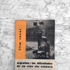 Cine: FILM IDEAL - Nº 69 70 - 1961 CINE ARGENTINO, PLACIDO DE BERLANGA, CANTINFLAS, EL COCHECITO, PSICOSIS. Lote 267369264