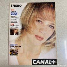 Cinema: REVISTA CANAL PLUS Nº 87 'ESPECIAL EMMA SUAREZ'. Lote 267375959
