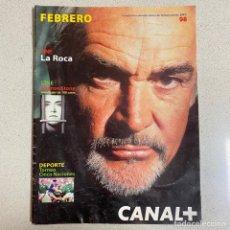 Cinema: REVISTA CANAL PLUS Nº 88 'LA ROCA SEAN CONNERY'. Lote 267376164