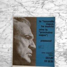 Cine: FILM IDEAL - Nº 73 - 1961 - GARY COOPER, CANNES, CINE ESPAÑOL, NOUVELLE VAGUE, MARLON BRANDO. Lote 267636149