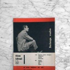 Cine: FILM IDEAL - Nº 75 - 1961 - BERLANGA, RENACIMIENTO DEL CINE ITALIANO, CINE Y TV, MAX OPHULS. Lote 267637944