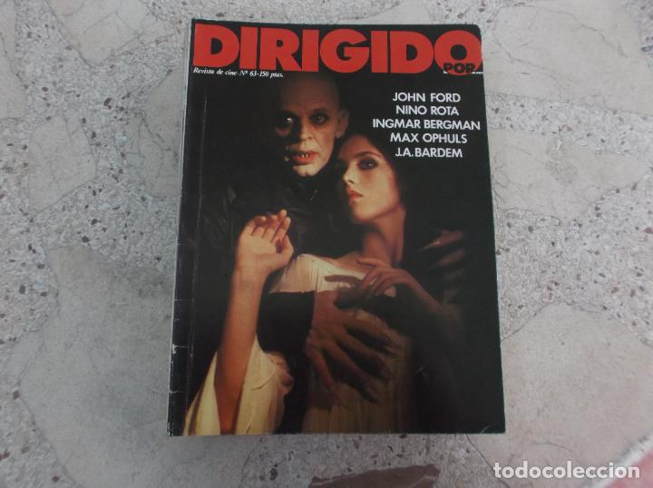 DIRIGIDO POR Nº 63, JOHN FORD, NINO ROTA, INGMAR BERGMAN, MAX OPHULS, J.A.BARDEN (Cine - Revistas - Dirigido por)