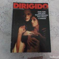 Cine: DIRIGIDO POR Nº 63, JOHN FORD, NINO ROTA, INGMAR BERGMAN, MAX OPHULS, J.A.BARDEN. Lote 267753039