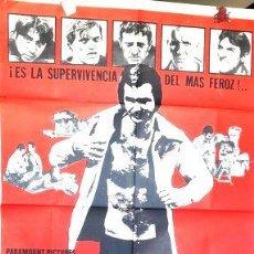 Cine: POSTER AFICHE CINE BURT REYNOLDS GOLPE BAJO ORIGINAL. Lote 268085524