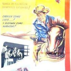 Cine: POSTER AFICHE CINE BORN TO THE SADDLE LEIF ERICKSON. Lote 268096859